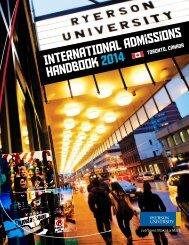 inteRnationaL admissions Handbook 2013 - Ryerson University