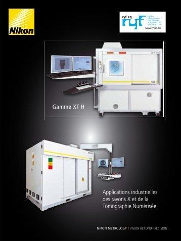 Gamme XT H Applications industrielles des rayons X et de ... - Ryf AG