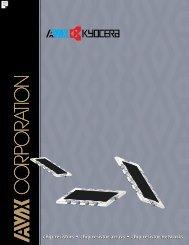 AVX Chip Resistors, Chip Resistor Arrays and Chip Resistor ...