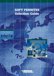 AVX/TPC Soft Ferrites Selection Guide - RYSTON Electronics sro