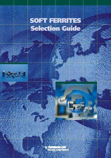 AVX/TPC Soft Ferrites Selection Guide - RYSTON Electronics sro