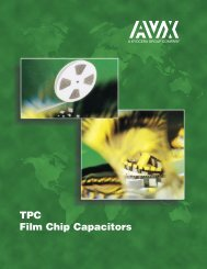 AVX TPC Film Chip Capacitors Catalog - RYSTON Electronics sro