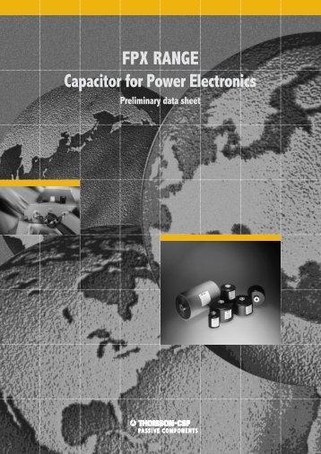 AVX/TPC FPX Range Power Electronics Capacitor Catalog