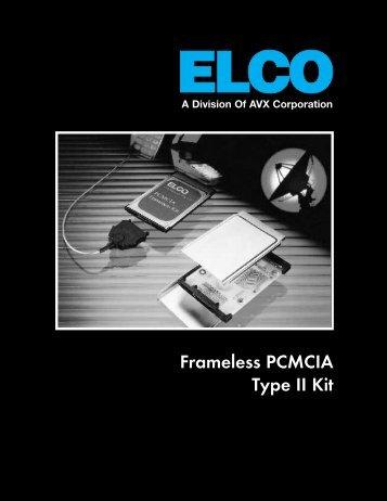 ELCO Frameless PCMCIA Type II Kit Data Sheet - RYSTON ...