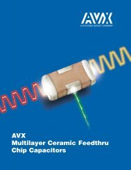 AVX Multilayer Ceramic Feedthru Chip Capacitors Catalog