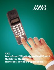 AVX TransGuard/StaticGuard/MultiGuard Multilayer Ceramic ...