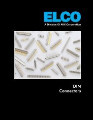 ELCO DIN Connectors Catalog - RYSTON Electronics sro