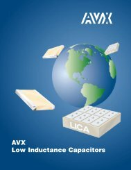 AVX Low Inductance Capacitors Catalog - RYSTON Electronics sro
