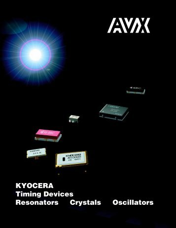 AVX/Kyocera Ceramic Resonators - RYSTON Electronics sro