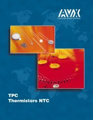 AVX TPC Thermistors NTC - RYSTON Electronics sro