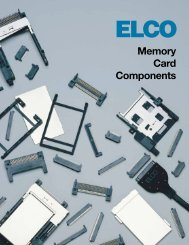 ELCO PCMCIA/PC Memory Card/Host Device Components Catalog