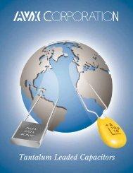 AVX Tantalum Leaded Capacitors - RYSTON Electronics sro