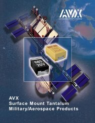 AVX Surface Mount Tantalum Military/Aerospace Products