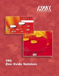 AVX TPC Zinc Oxide Varistors Catalog - RYSTON Electronics sro