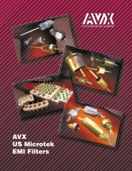 AVX US Microtek EMI Filters Catalog - RYSTON Electronics sro