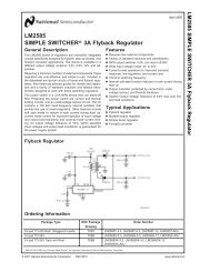 LM2585 SIMPLE SWITCHER 3A Flyback Regulator - RYSTON ...