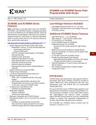 Xilinx XC4000E and XC4000X Series FPGA data sheet functional ...