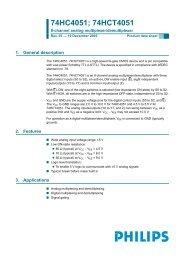 74HC4051; 74HCT4051 8-channel analog multiplexer/demultiplexer