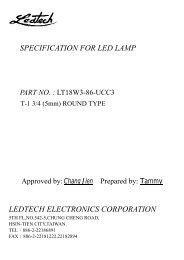 specification for led lamp ledtech electronics corporation - RYSTON ...
