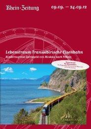 Lebenstraum Transsibirische Eisenbahn - rz-Leserreisen