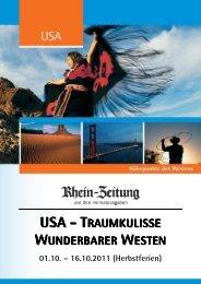 RZ_USA der Westen_01.10.-16.10.2011_Folder - rz-Leserreisen