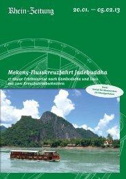 Mekong-Flusskreuzfahrt Jadebuddha: Kambodscha ... - rz-Leserreisen