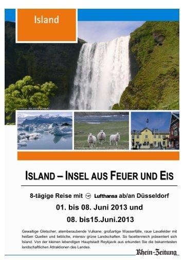 ISLAND –INSEL AUS FEUER UND EIS - rz-Leserreisen