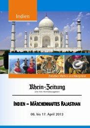 INDIEN – MÄRCHENHAFTES RAJASTHAN - rz-Leserreisen