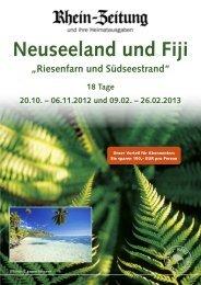 Neuseeland und Fiji - rz-Leserreisen