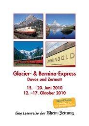 Glacier- & Bernina-Express - rz-Leserreisen