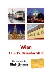 11. – 15. Dezember 2011 - rz-Leserreisen