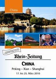 Peking - Xian - Shanghai - rz-Leserreisen