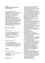 Satzung des Fachbereiches Informatik und Elektrotechnik