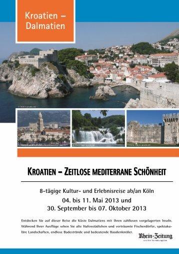 kroatien – zeitlose mediterrane schönheit - rz-Leserreisen