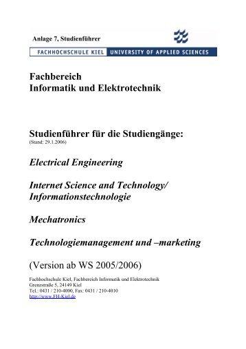 Fachbereich Informatik und Elektrotechnik Studienführer für die ...