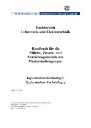 Fachbereich Informatik und Elektrotechnik Handbuch für die Pflicht ...