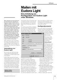Mailen mit Eudora Light - Rechenzentrum - Universität Augsburg