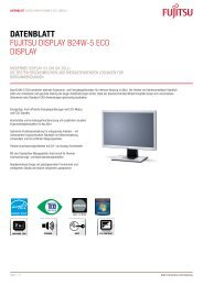 Datenblatt Fujitsu Display B24W-5 ECO Display - Rechenzentrum
