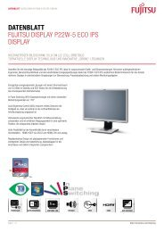 Datenblatt Fujitsu Display p22W-5 ECO ips Display - Rechenzentrum
