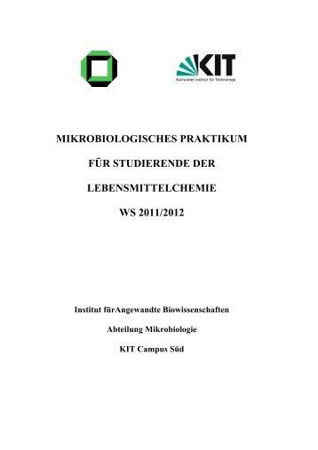 MIKROBIOLOGISCHES PRAKTIKUM FÜR STUDIERENDE DER ...