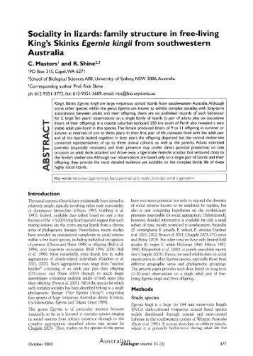 Egernia kingii descriptive essay