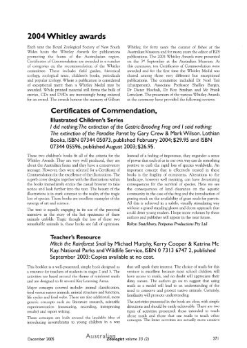 2004 Whitley awards.pdf 782KB - RZS of NSW
