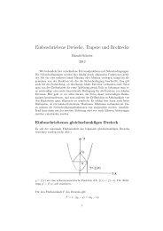 Einbeschriebene Dreiecke, Trapeze und Rechtecke - RZ User
