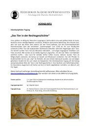 Vorab-Info mit geplantem Tagungsprogramm zum ... - RZ User