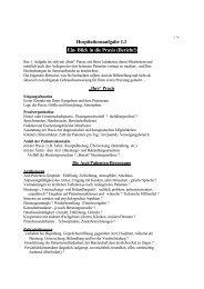 Hospitationsaufgabe 1.1 Ein- Blick in die Praxis (Bericht!) - RZ User