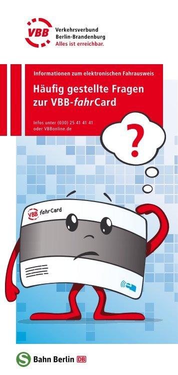 Häufig gestellte Fragen zur VBB-fahrCard - S-Bahn Berlin GmbH
