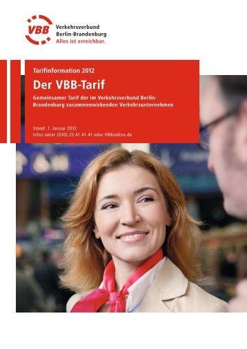 Der VBB-Tarif - S-Bahn Berlin GmbH