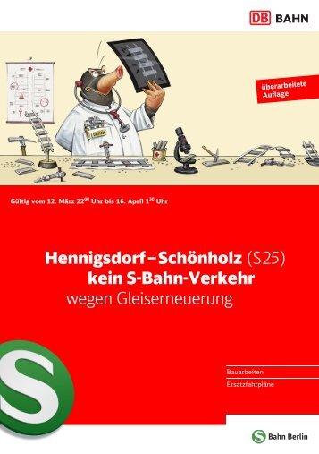 Hennigsdorf–Schönholz - S-Bahn Berlin GmbH