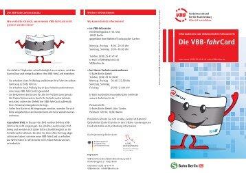 Die VBB-fahrCard - S-Bahn Berlin GmbH