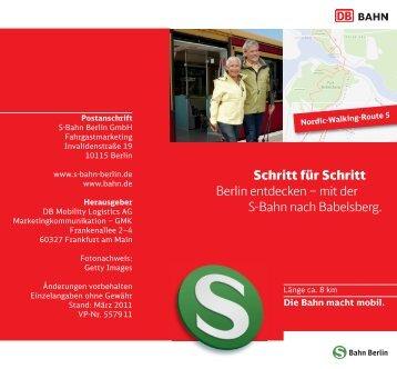 mit der S-Bahn nach Babelsberg. - S-Bahn Berlin GmbH